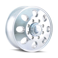 ION ALLOY 167 FRONT DUALLY WHEELS 16X6 8X170 POLISHED +102MM OFFSET