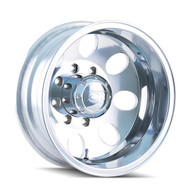 ION ALLOY 167 REAR DUALLY WHEELS 16X6 8X165.1 POLISHED -125MM OFFSET