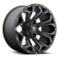 "D546 FUEL ASSAULT WHEEL 18X9 5X4.5"" ( 5X114.3 ) & 5X127 -12MM BLACK & MILLED"