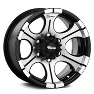 Dick Cepek DC2 Wheels 17x9 6x5.5  -12 Black Machined | 90000000497
