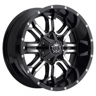 TIS 535mb Wheels 20x9 8x6.5  -12 Black Machined | 535MB-2098112