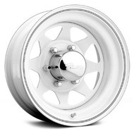 Pacer 310W White SPOKE 15X7 Wheels 5X4.5 -6mm | 310W-5712