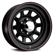 Pacer 342B Black Daytona 15X7 Wheels 6X5.5 0mm | 342B-5760