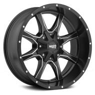 "Moto Metal MO970 Wheel 16x8 6x135 & 6x5.5"" 6x139.7 Black 0mm -FREE LUGS"