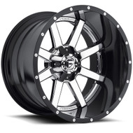 24x16 Fuel Maverick 2 Piece Wheels Black Chrome 8x170  -100 | D26024601745
