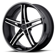 Asanti ABL-7 Wheels 22x9 5x120 Machine Black 15mm | ABL7-22905215MB