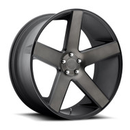 DUB Baller Wheels 22x8.5 5x4.5 (5x114.3) Black Machine 38mm | S116228565+38
