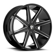 DUB Push Wheels 19x8.5 5x4.5 (5x114.3) & 5x127 Black 35mm | S109198538+35