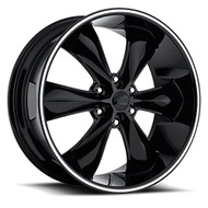 "Foose Legend Six Wheel 22x9.5 6x5.5 (6x139.7) Black Gloss 35MM Offset  - FREE LUGS & USE COUPON CODE ""EXTRASPECIAL"" 