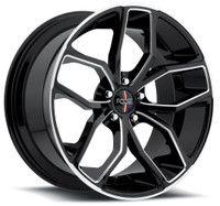 Foose Outcast Wheels 20x10 5x4.5 (5x114.3) Black 40mm | F150200065+40