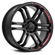 Drifz 207B Fx Wheels 17x7.5 5x110 & 5x115 Carbon Black Red 38mm | 207B-7754338