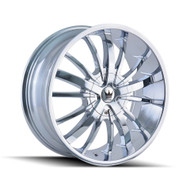 Mazzi Essence Wheels 24x9.5 5x4.5 & 5x120 Chrome 18mm | 364-24918C