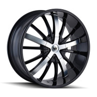 Mazzi Essence Wheels 24x9.5 6x135 & 6x5.5 Black 30mm | 364-24937B
