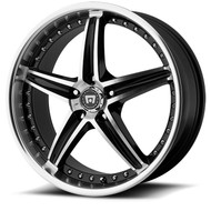 Motegi Racing MR107 Wheels 17x7.5 5x108 Black Machine 45mm | MR10777545345