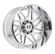 Hostile Sprocket Wheel 20x9 8x6.5 (8x165.1) Armor Plate Chrome 0mm Offset-FREE LUGS-IN CART DISCOUNT