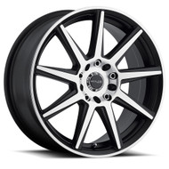 Raceline Storm Wheels Black Machine 16x7 4x100 4x108 40MM | 144M-67082+40