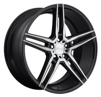 Niche Turin M169 Wheel 19x8.5 5x4.5 Black Machine 45mm FREE LUGS-CART DISCOUNT