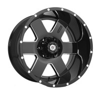 American Truxx Armor AT155 18x9 Wheels Black 8x170 -12 | AT155-18994M-12