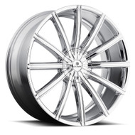 Kraze Passion 724 22x8.5 Wheels Chrome 5x4.5 5x4.75 35 | KR724-228524C