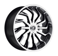 Kraze Scrilla 142 24x9 Wheels Black Machined 5x5.5 5x127 18 | KR142-249525BM