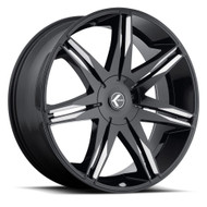 Kraze Epic 143 24x9 Wheels Black 6x135 6x5.5 30 | KR143-249550M