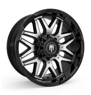 American Truxx Grind AT151 20x9 Wheels Black Machined 8x180 -12 | AT151-20997BM-12