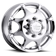 Vision Crazy Eight 715 Dually Chrome Front Wheels Rims 17x6.5 8x170  121.35 | 715-7670CF