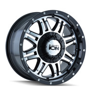 Ion 186 Wheels Rims 16x8 Black Machined 5x127 (5x5) 5x5.5 (5x139.7) 10mm | 186-6852B | Free Shipping!
