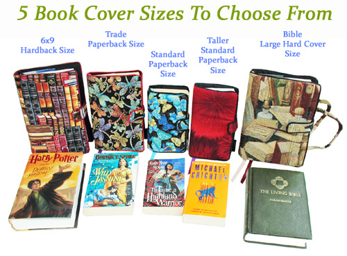 Paper Book Cover Name : How to choose the correct size for your fabric book covers
