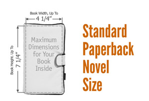 Standard Paperback Novel' (mass market) Book Cover Size