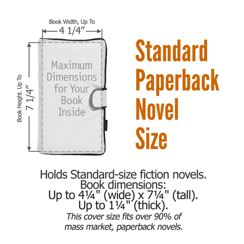standard paperback novel book cover size