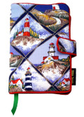 Seaside Lighthouse Fabric Book Cover Design