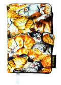 Sleepy Kitties Fabric Book Cover Closeout $6.00 Off