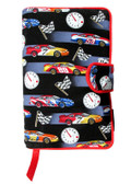 Race Cars Fabric Book Cover Closeout $6.00 Off