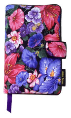 When the morning glories bloom, they're everywhere! And that's the way we like them on our Morning Glory fabric book cover.