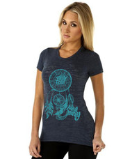 Dreamcatcher Burnout Tee - Slate