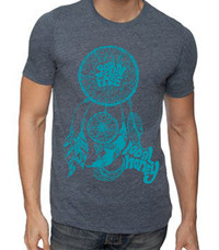 Mens Dreamcatcher Poly/Cotton Crew - Indigo