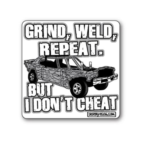 Grind Weld Repeat Sticker