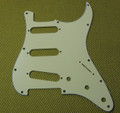 Cream 3-Ply, 11-Hole Pickguard for Fender Strat