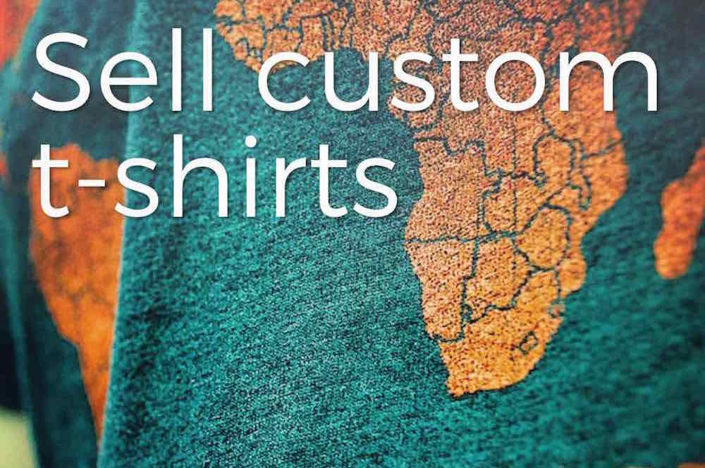 Über practical fundraising: Sell custom t-shirts