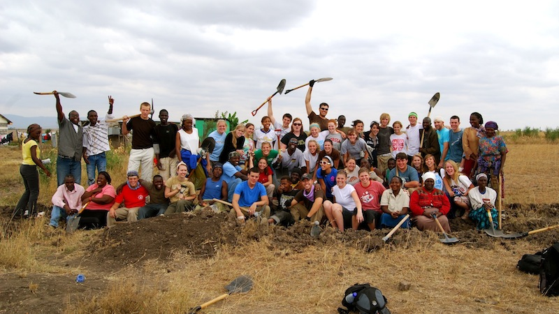 This is CJ's first mission trip in Kenya, the 2008 trip that started all of this. Can you find CJ in this picture?
