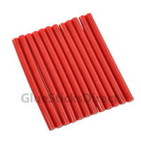 "Red Colored Glue Sticks mini X 4"" 12 sticks"