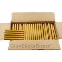"Gold Metallic Colored Glue Sticks 7/16"" X 4"" 5 lbs"