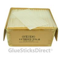 "Wholesale® Hot Melt Glue Sticks Mini X 10"" 25 lbs Bulk"