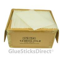 "Wholesale® Cool Melt Glue Sticks 7/16"" X 10"" 25 lbs bulk"
