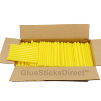 "Yellow Colored Glue Stick mini X 4"" 5 lbs"