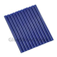 "Blue Faux Wax Colored Glue Sticks mini X 4"" 12 sticks"