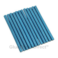 "Blue Glitter Faux Wax Glue Sticks mini X 4"" 12 sticks"