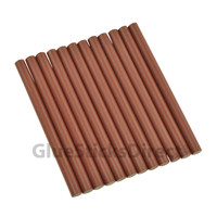 "Burgundy Faux Wax Colored Glue Sticks mini X 4"" 12 sticks"