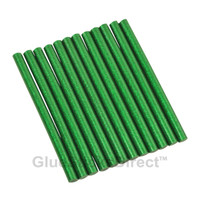 "Green Glitter Faux Wax Glue Sticks mini X 4"" 12 sticks"